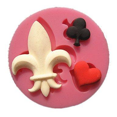 HJLKP poker ciruela negro moldes para pasteles forma la pasta de azúcar de la decoración del molde del chocolate bromista corazón rojo para la: Amazon.es: ...