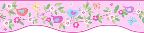 - Fun4Walls BO50054 Bird Houses Peel and Stick Border