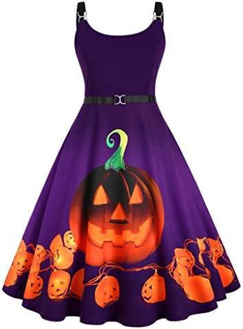 ハロウィン ワンピース コスプレ 仮装 大人 レディース 袖なし 丸い襟 かぼちゃ aライン タンクスカート 洋装 洋服 魔女