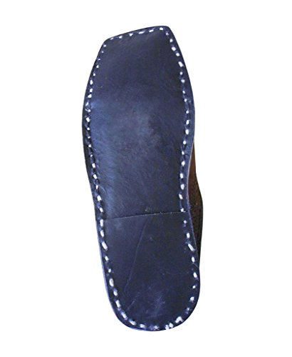 pour Indien en de Marron kalra cuir chausson traditionnel ethnique hommes Creations Chaussures wggq6Uv