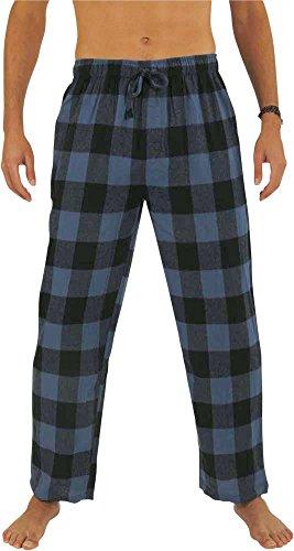 NORTY Mens Flannel Pajama Pants - Comfortable Cotton Bottoms Sleep Loungewear