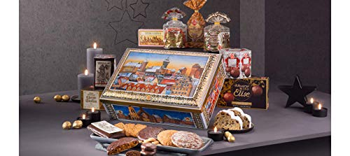 Lebkuchen Schmidt Nuremberg Gift Chest Filled with Assorted German Holiday Sweet Delicacies: Lebkuchen, Stollen, Spekalatius, and more, 2Kg, Product of Germany