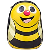 HONEY JOY 2Pc 13'' 19'' Kids Carry On Luggage Set Travel Trolley Suitcase for Boys and Girls (Honeybee)