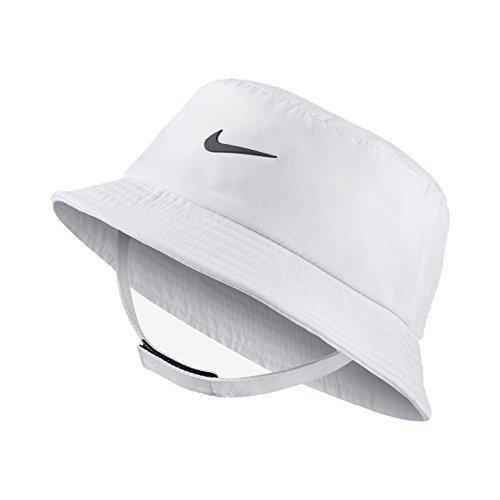 NIKE Dry Infant/Toddler Girls' Bucket Hat (12-24 Months, White (001)/Black/White)