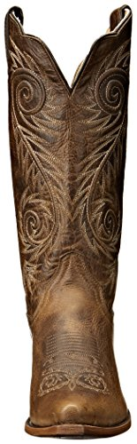 Justin Boots Women's Classic Western Boot Narrow Square Toe,Tan Damiana,8 B US by Justin Boots (Image #4)