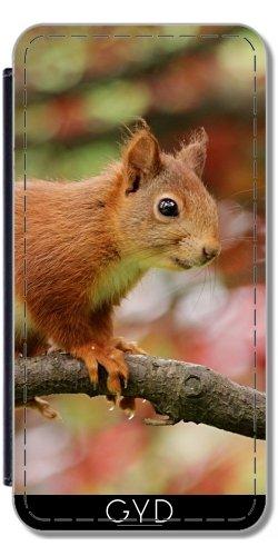 Leder Flip Case Tasche Hülle für Apple iPhone 6/6S - Eichhörnchen Tier Niedlich Säugetier by Grab My Art