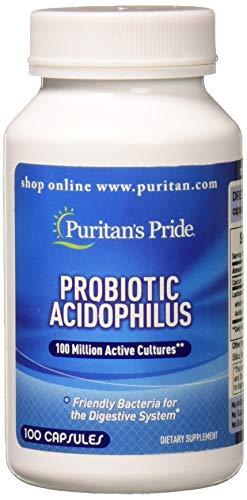 Puritans Pride Probiotic Acidophilus Capsules, 100 Count