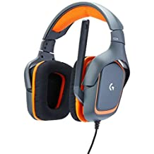Logitech G231 Prodigy - Gaming Headset, Color Negro con Naranja