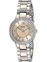 Womens Virginia Quartz Stainless Steel and metal Casual Watch Color: 2 tone-silver/