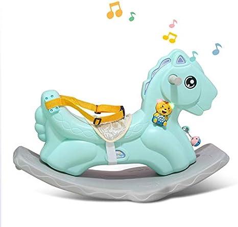 JTYX Bambini Cavallo a Dondolo con Cintura Musicale