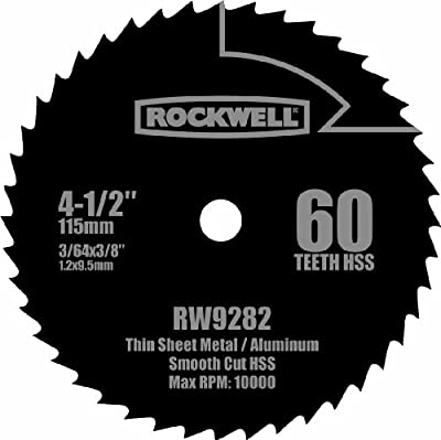 Rockwell RW9282 4 1/2-Inch 60T High Speed Steel Compact Circular Saw Blade by Positec USA