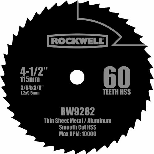 (Rockwell RW9282 4 1/2-Inch 60T High Speed Steel Compact Circular Saw Blade)