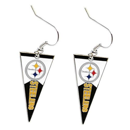 NFL Pittsburgh Steelers Pennant Earrings - Pittsburgh Pennant Steelers