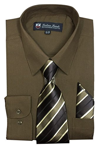 brown dress shirt and tie - 8