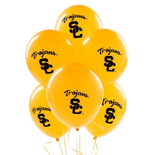 (NCAA USC Trojans Gold 11'' Round Latex Party Balloons by Party Destination )
