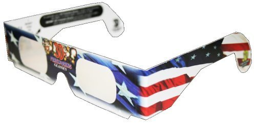 3D July Fourth Fireworks Glasses Patriotic Flag Design, See Starbursts In Every Point Of Light, Pack of 5