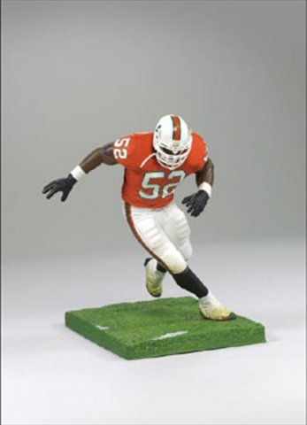 McFarlane Toys NCAA COLLEGE Football Sports Picks Series 1 Action Figure Ray Lewis (Miami Hurricanes) by McFarlane
