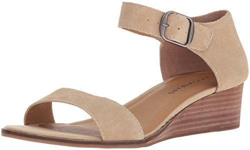 Best-selling Lucky Brand Women' Riamsee Wedge Sandal, Travertine,