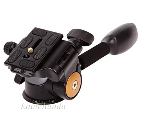 Koolehaoda 360°Single Handle Hydraulic Damping Three-Dimensional Ball Head with Quick Release Plate for Tripod Monopod