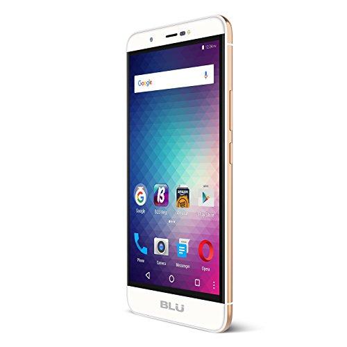 BLU Energy X Plus 2 -GSM Unlocked Smartphone -  4,900mAh Super Battery - Gold (Studio Energy Blu)