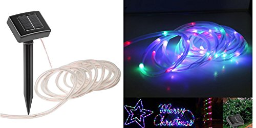 KORADA Solar String Light, Garden Decoration Outdoor Waterproof Copper Wire String Christmas Lamp for Wedding Party Tree Xmas Decoration Tree Xmas (23ft/50LED,Multi Color) by KORADA