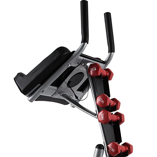 Popsport Abdomen Machine 330LBS Abdominal Coaster Abdomen Exercise Equipment with Adjustable Seat for Abdominal Muscle Training (Ab Coaster with 4 Dumbbells and wriggled Plate) by Popsport (Image #4)