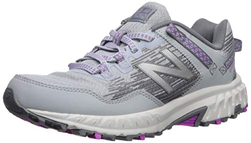 New Balance Women's 410v6 Cushioning Trail Running Shoe, Light Cyclone/Gunmetal/Voltage Violet, 7 W US