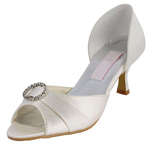 Minitoo , Chaussures de mariage tendance femme - blanc - White-6.5cm Heel,