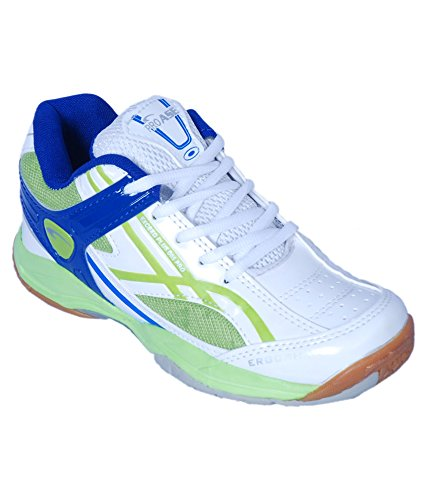 Buy PRO ASE White Green Badminton Shoe