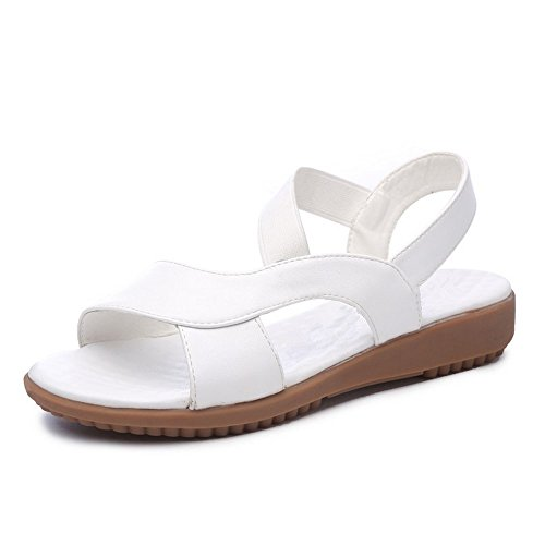 Sandalias LI Zapatos Toe Verano Peep Alto BAJIAN heelsWomen Chanclas Bajos se Zapatos oras Sandalias B0ndxqx7w