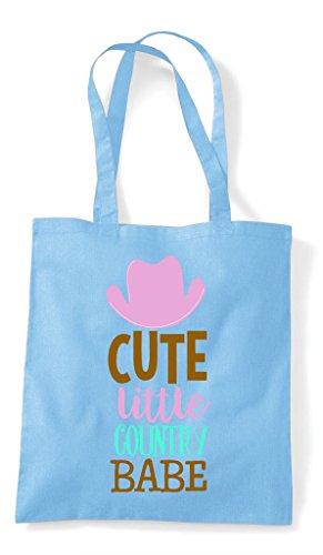 Babe Country Shopper Cute Tote Little Sky Blue Bag 5Xww1EUq