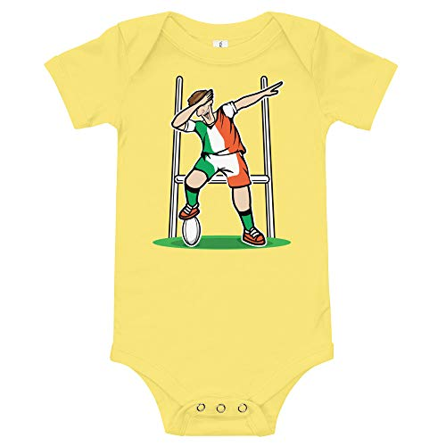 Amazingly Good Products Dabbing Ireland Rugby Player | 2019 Fans Kit for Irish Supporters, T-Shirt Yellow