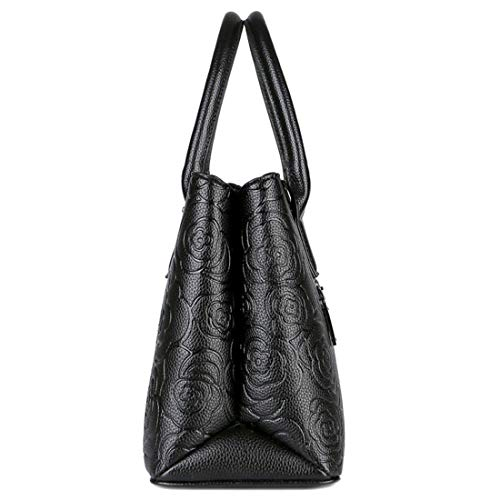 Sac tout Main À Black Houyazhan Fourre color Bandoulière Black Zdw1RqR7n