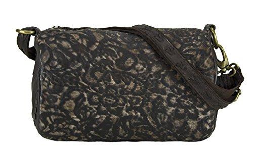 Sunsa Damen Tasche Ledertasche Schultertasche Umhängetasche Bowlingtasche
