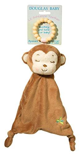 Douglas Baby Lil Sshlumpie Plush Brown Monkey Teether with (Plush Teether)