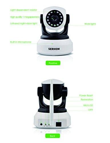 SERHOM IP Camera WIFI 1080P,Wireless Surveillance Camera,Network webcam,Two way Audio Microphone inside,Onekey WIFI Setting,Pan/Tilt Movement,Night Vision Baby Pet Video Monitor by SERHOM (Image #3)
