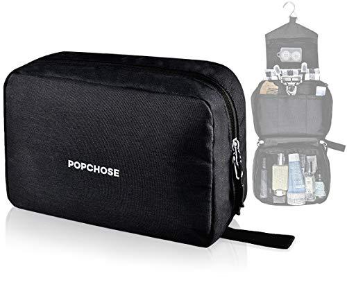 Travel Toiletry Bag for Men POPCHOSE Hanging Travel Dopp Kit Bag Waterproof Bathroom Shower Bag Durable Makeup Cosmetic…
