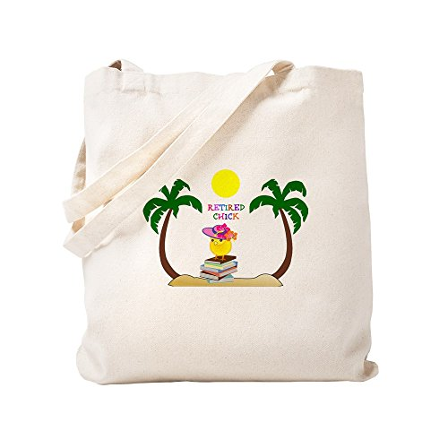 - CafePress - Retired Chick, Tropical Paradise - Natural Canvas Tote Bag, Cloth Shopping Bag