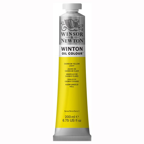 Winsor & Newton Winton Oil Colour Paint, 200ml tube, Cadmium Yellow Light