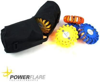 Powerflare Nylontasche f/ür 6 LED Signallichtern