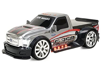New Bright F-350 Ford Super Duty with Lights Vehicle, Scale 1:16