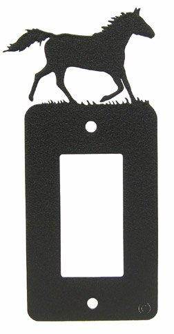 Innovative Fabricators, Inc. Running Horse GFI Rocker Light Switch Plate - Covers Horse Switch Light