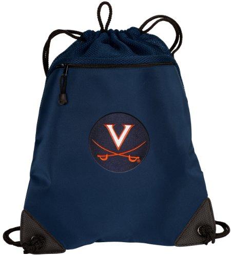 Broad Bay UVA Drawstring Backpack University of Virginia Cinch Bag - UNIQUE MESH & MICROFIBER by Broad Bay