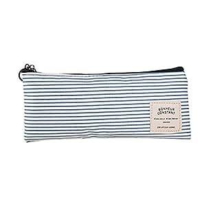 Bullidea Canvas Pen Pencil Case Bag Stationery Storage Pouch Case Cosmetic Makeup Bag Coin Purse Multiple Styles, 1pc