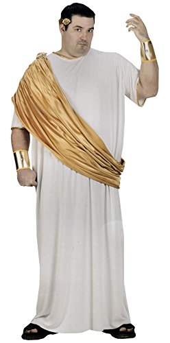 Fun World Men's Hail Caesar, White, Plus Size