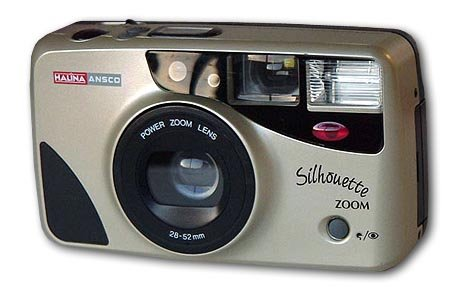 Halina Ansco 35mm Film Camera Vintage Point & Shoot Flash Zoom Lens 28-52mm