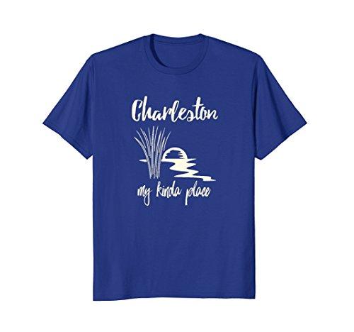 Mens Charleston South Carolina My Kinda Place Tee Shirt Medium Royal - Place Charleston Shops