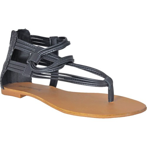Bruno Menegatti 2370 Sandalo Donna In Pelle Con Cinturino Nero