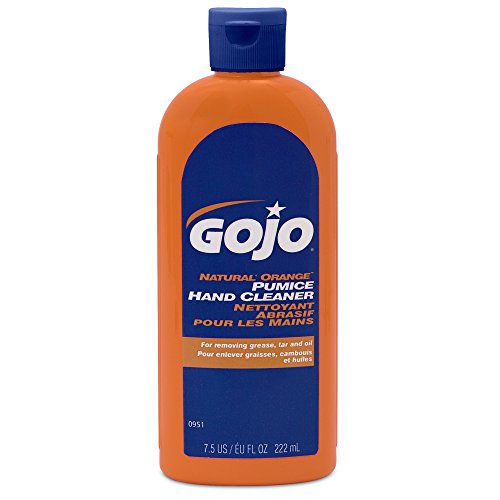 GOJO NATURAL ORANGE Pumice Hand Cleaner, 7.5 fl oz Quick-Acting Lotion Formula Squeeze Bottles (Case of 15) – ()