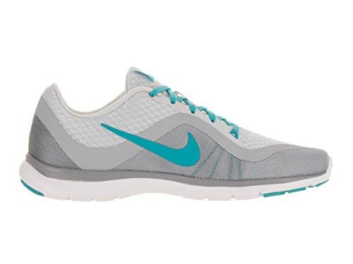 Nike Wmns Flex Trainer 6, Zapatillas de Gimnasia para Mujer Plateado (Pr Pltnm / Gmm Bl-Wlf Gry-Stlth)